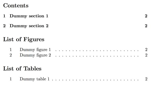 Use lists and tables