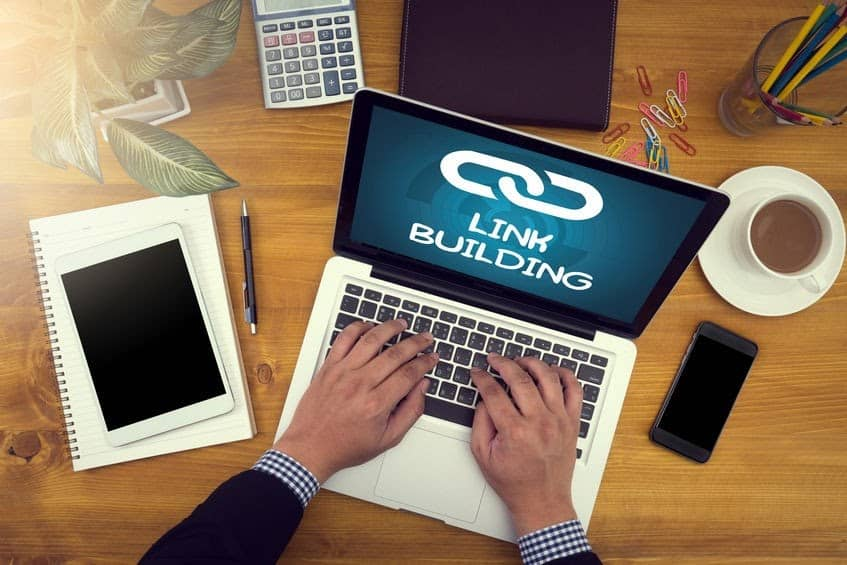 Do link building and improve the page structure
